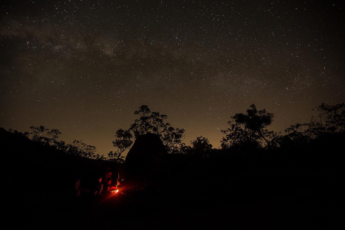 Ciel étoilé sur le Kerval