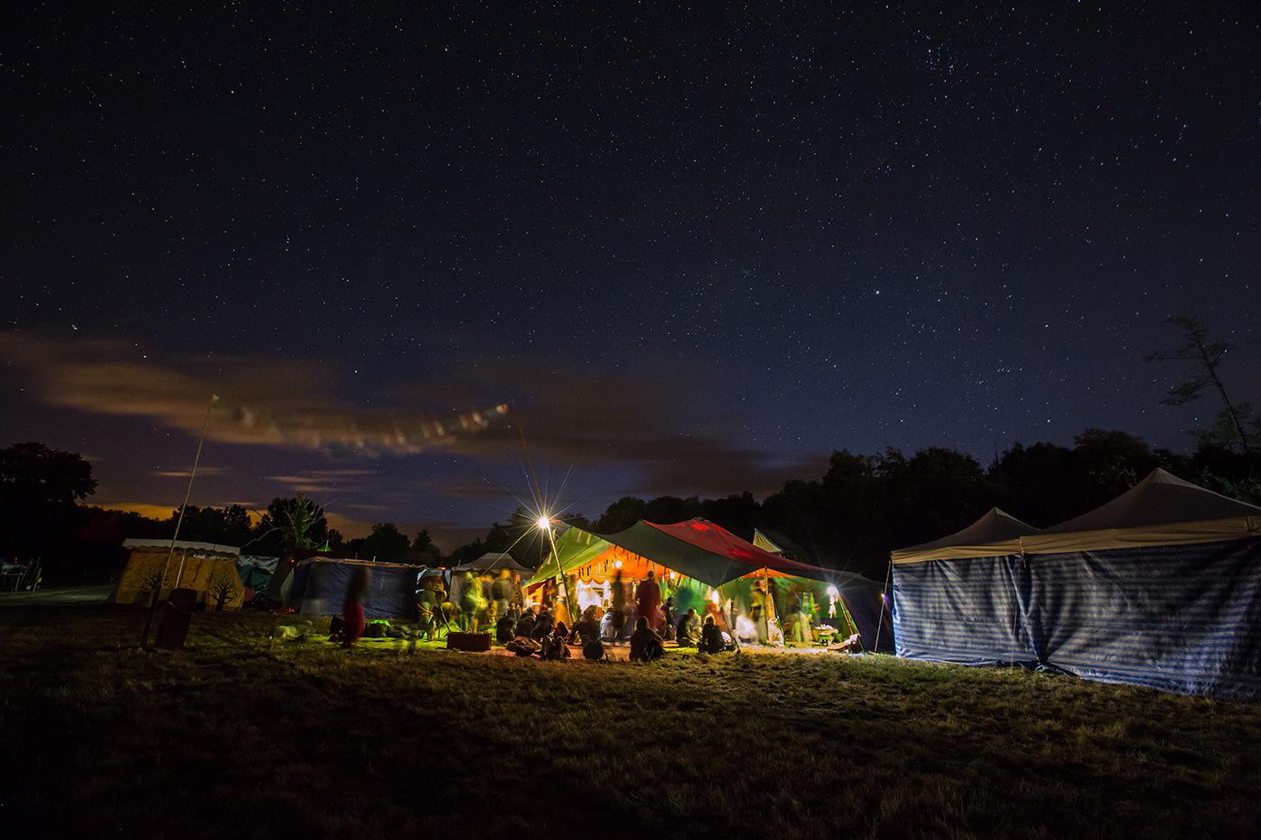 Tente berbère nuit