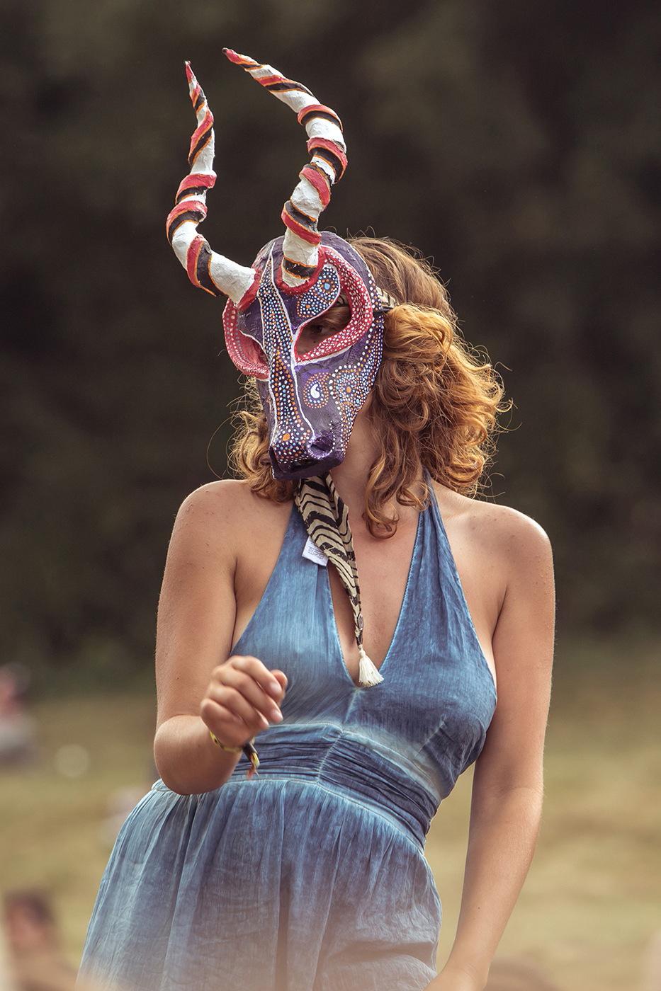 Danseuse masque antilope