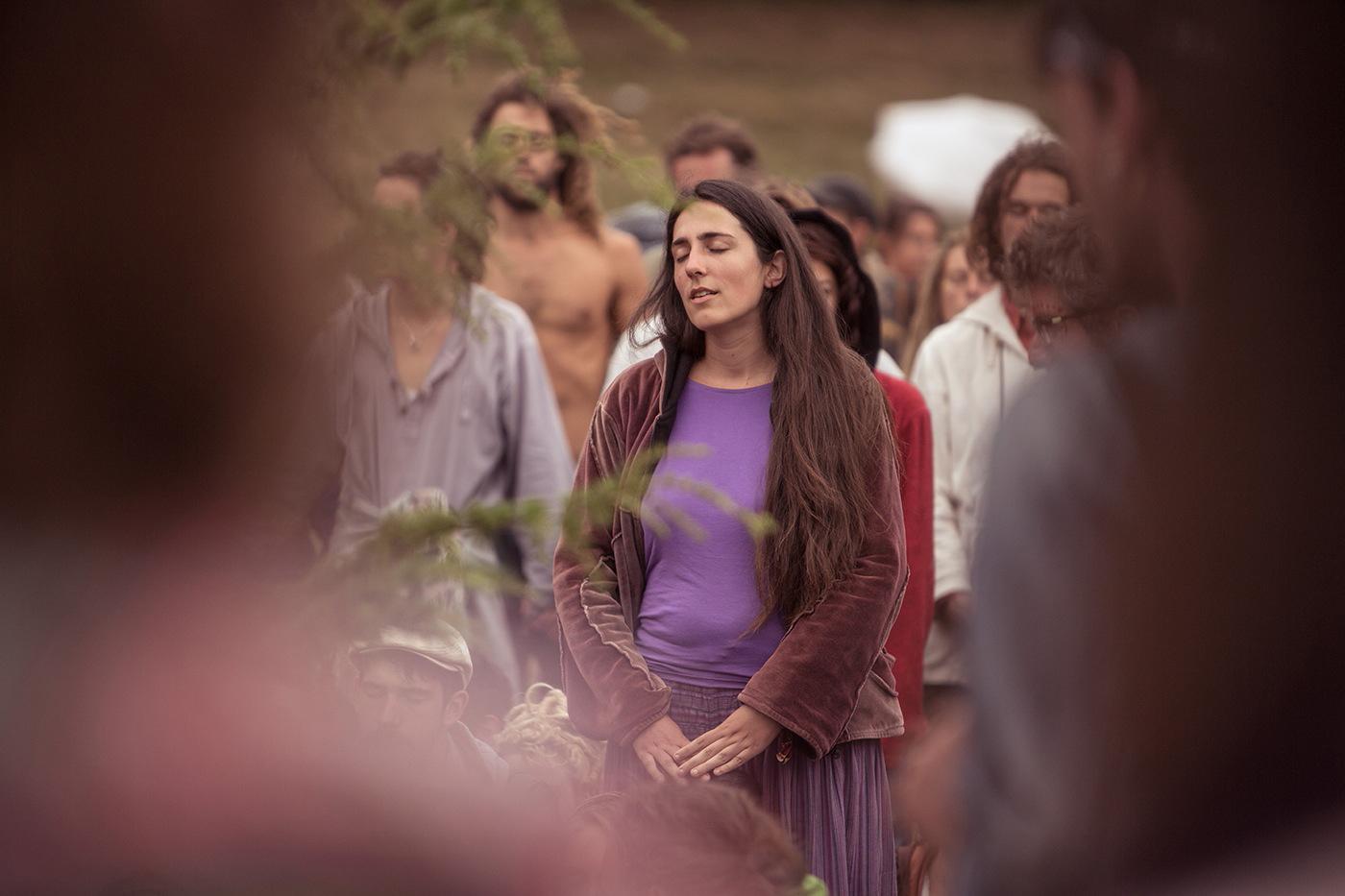 Flou femme violet