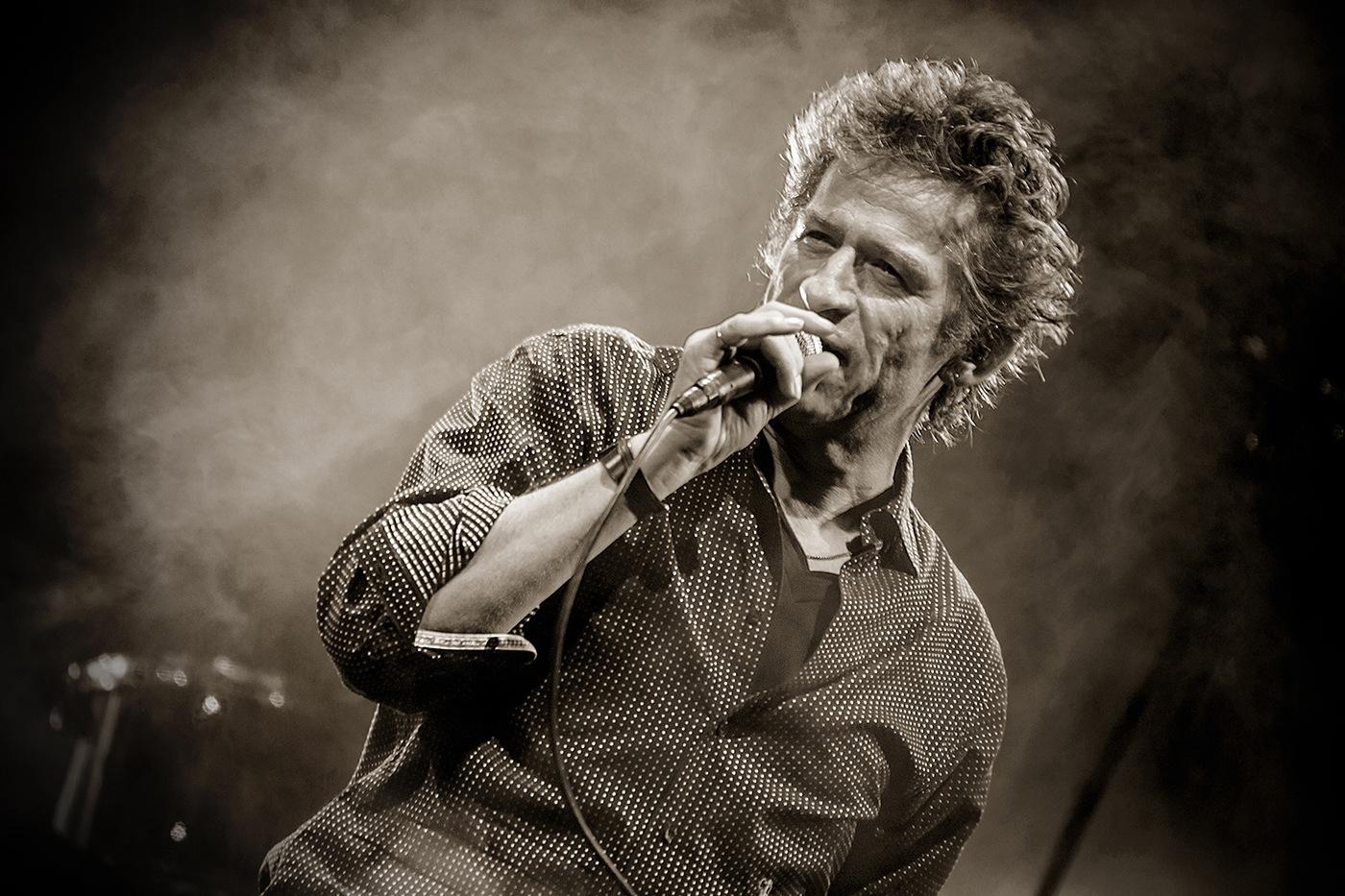 Hubert-Félix Thiefaine (N&B) - Festival Rockadel 2012 - Poitier