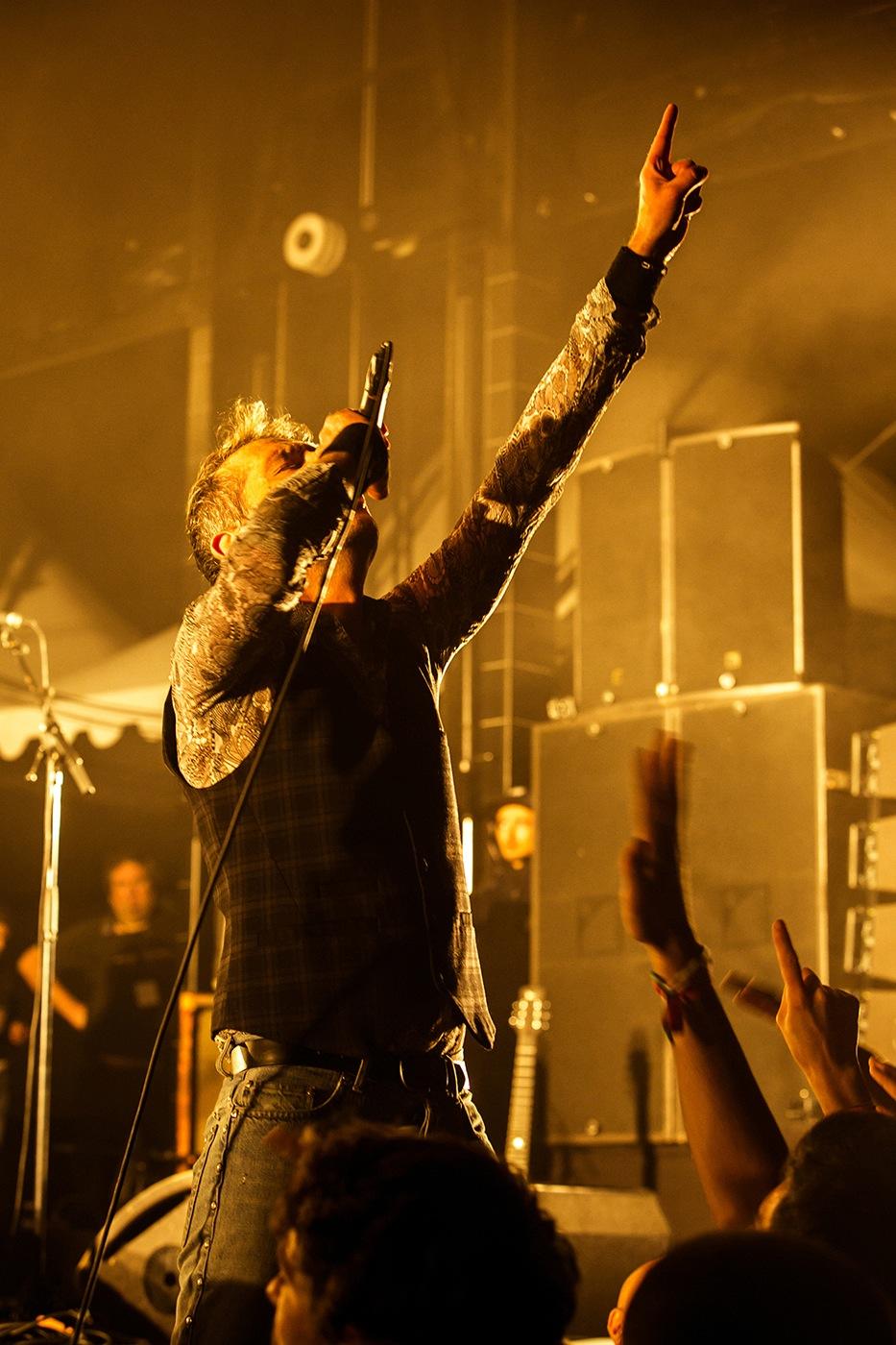 Didier Wampas (verticale doigt en l'air)  - Festival Rockadel 20